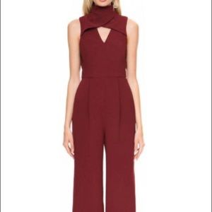 Red/Maroon maxi jumpsuit